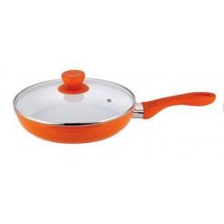 Bergner Keramische koekenpan met deksel 20cm (oranje)