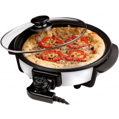 Cuisinier Deluxe Pizzapan met glazen deksel (40cm)
