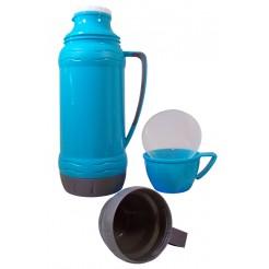 Excellent Houseware Thermoskan met 3 bekers (blauw)