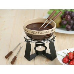 Kaiserhoff Chocoladefondue set (6 delig)