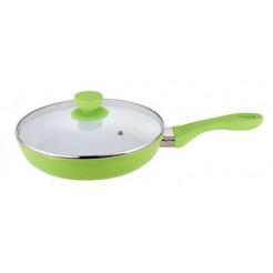 Bergner Keramische koekenpan met deksel 20cm (groen)