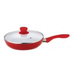 Bergner Keramische koekenpan met deksel 20cm (rood)